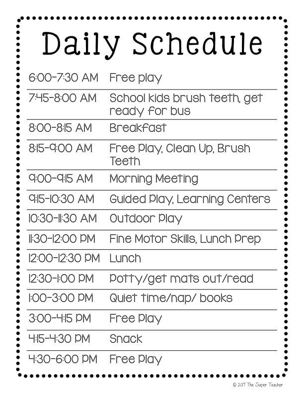 Preschool Daily Schedule Template How to Make A Daycare Schedule that Works [free Template