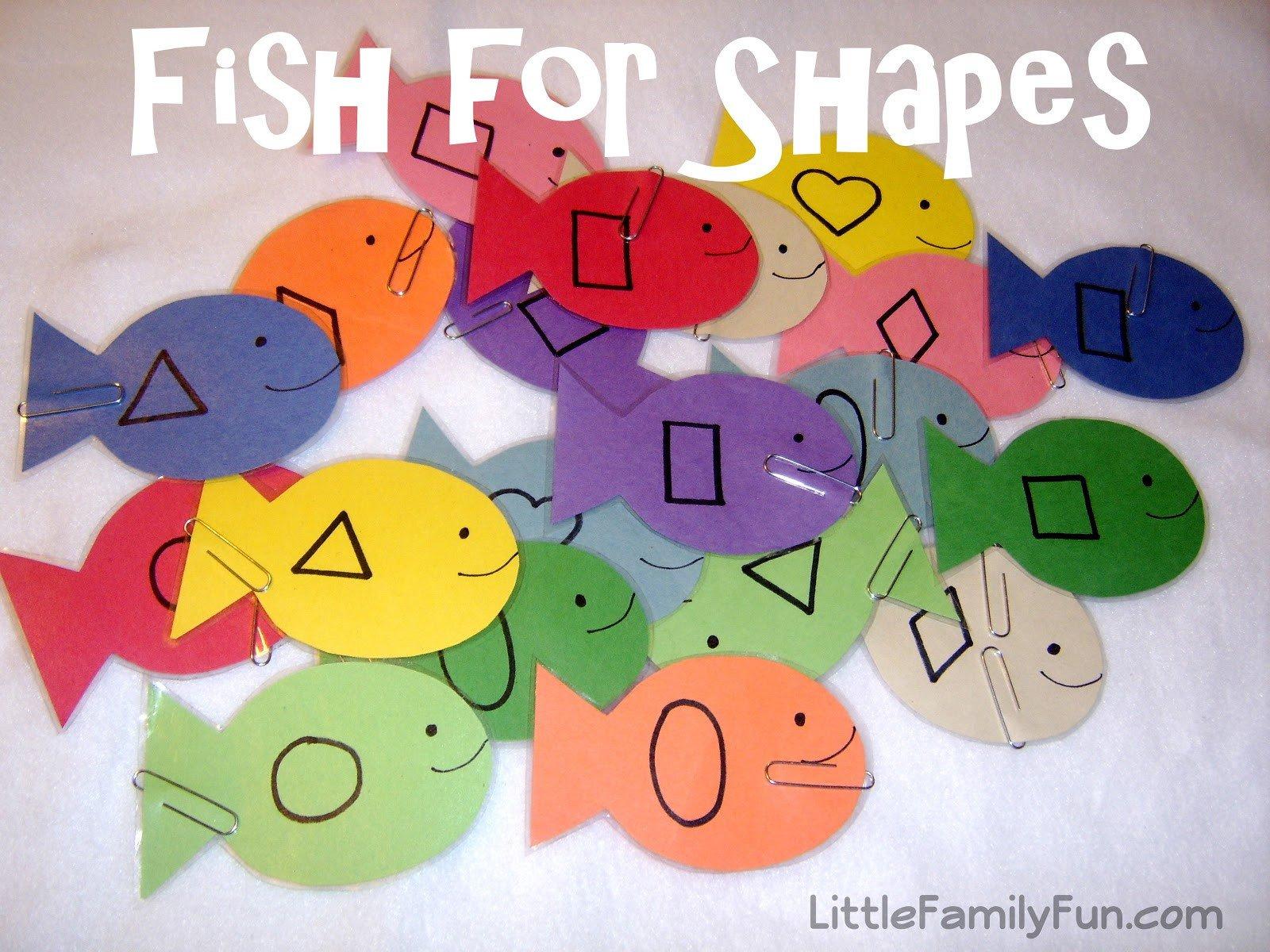 Preschool Fish theme Fish for Shapes