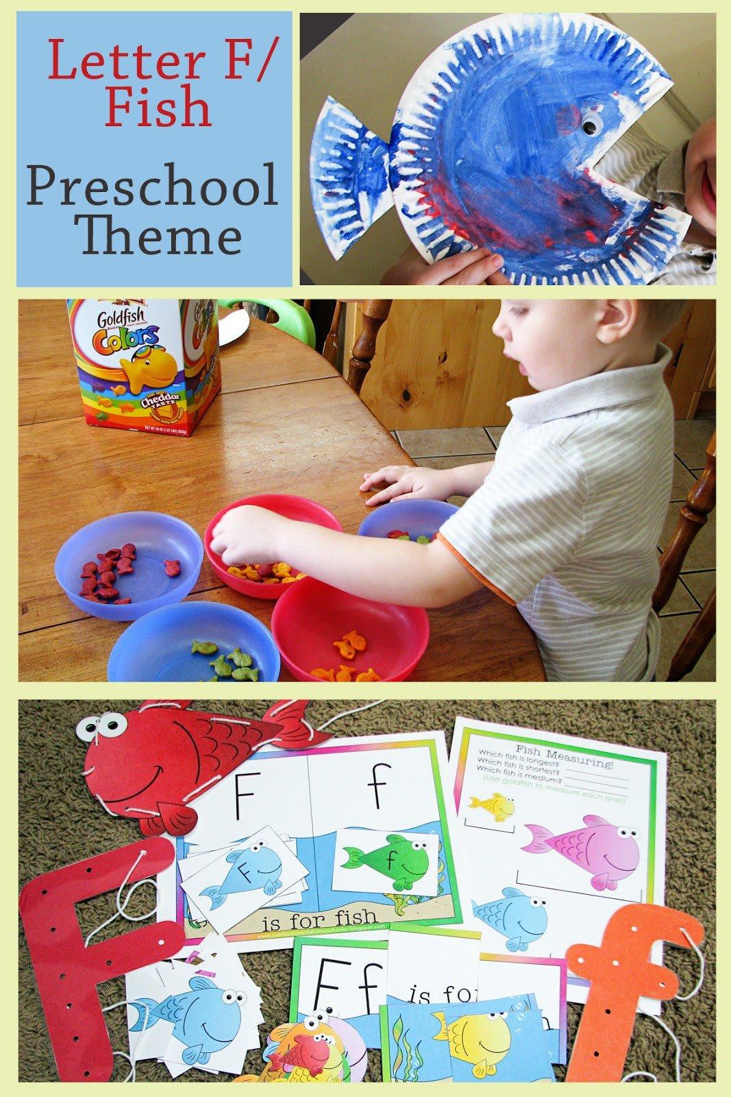 Preschool Fish theme Mommy S Little Helper Letter F Fish Preschool theme