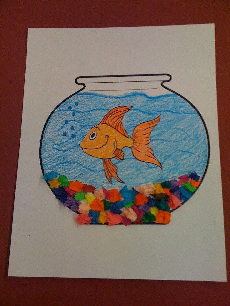 Preschool Fish theme Pets Fish Bowl Craft Preschool Pinterest