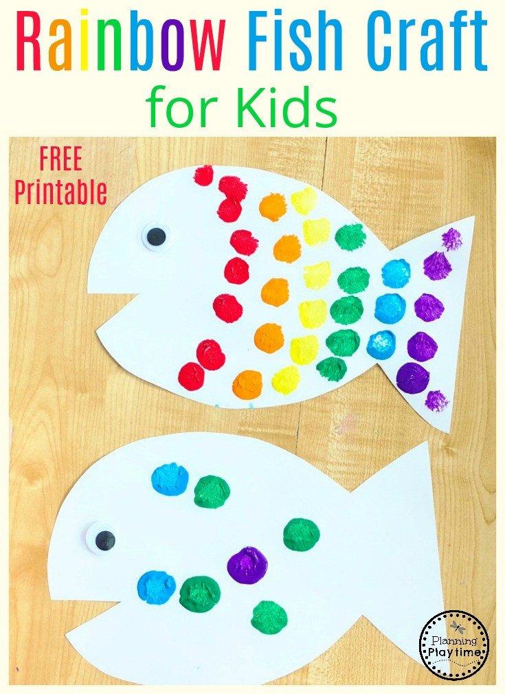 Preschool Fish theme Rainbow Fish Craft Planning Playtime
