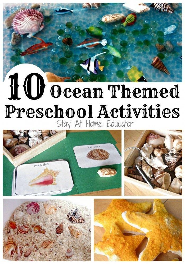Preschool Fish theme Ten Ocean themed Preschool Activities
