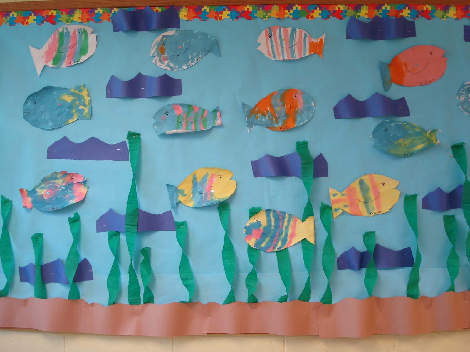 Preschool Fish theme Trinity Preschool Mount Prospect Art and Bulletin Boards
