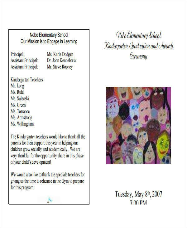 Preschool Graduation Programs Template 6 Sample Graduation Programs Pdf Word