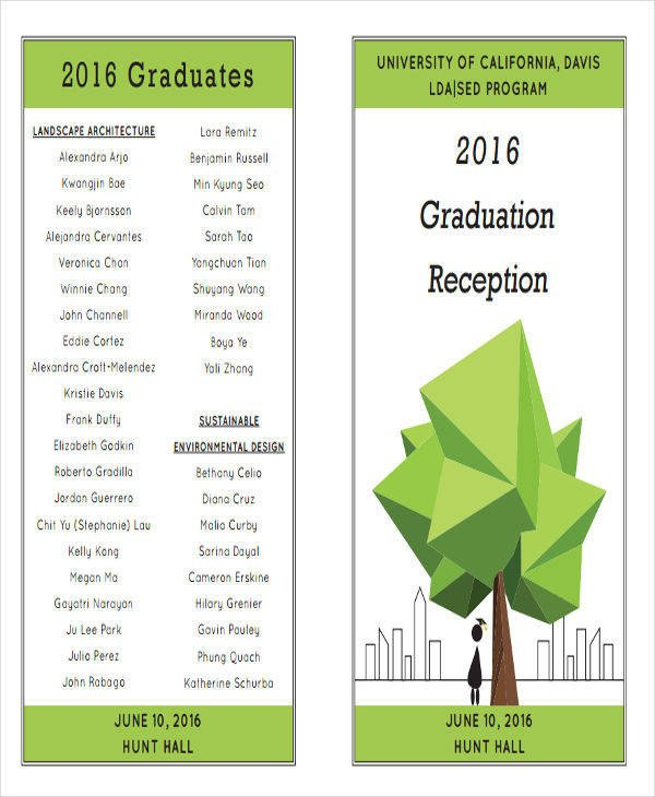 Preschool Graduation Programs Template 7 Graduation Program Templates Pdf Word