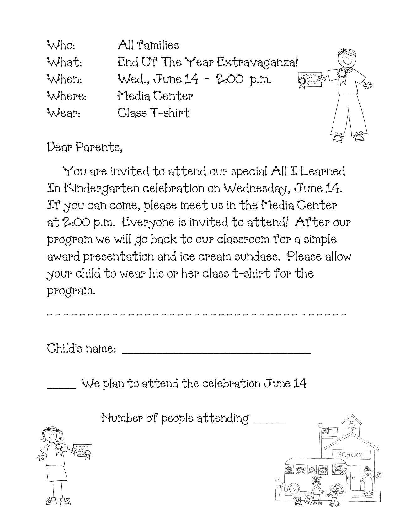Preschool Graduation Programs Template End Of the Year Program