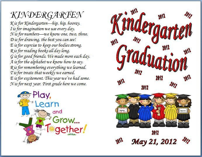 Preschool Graduation Programs Template Keeping Focused Kindergarten Graduation 2012