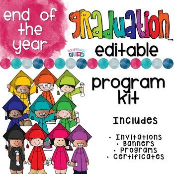 Preschool Graduation Programs Template Kindergarten Graduation Program Template by Teaching