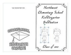 Preschool Graduation Programs Template Kindergarten Graduation Program Template