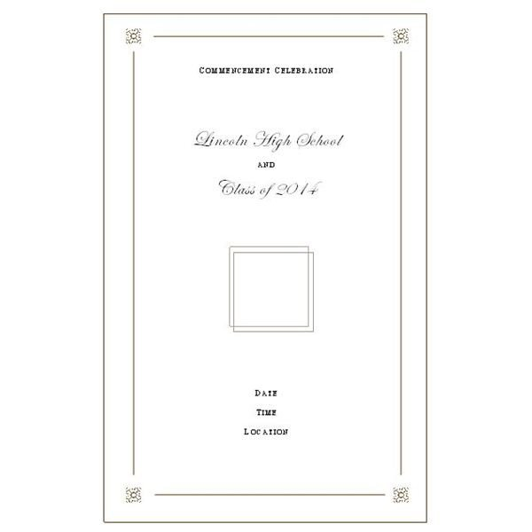 Preschool Graduation Programs Template Want to Make Your Own Graduation Program Templates Make