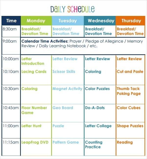 Preschool Lesson Plans Template Preschool Lesson Plan Template 10 Download Free