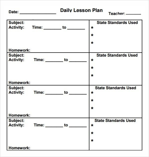 Preschool Lesson Plans Template Preschool Lesson Plan Template 10 Download Free