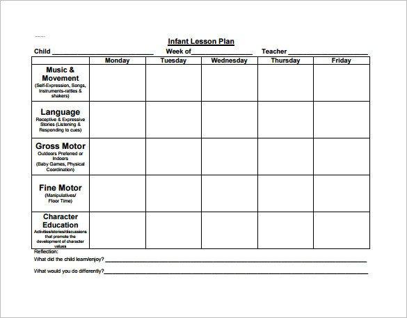 Preschool Lesson Plans Template Preschool Lesson Plan Template 11 Free Pdf Word format