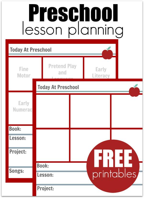 Preschool Lesson Plans Template Preschool Lesson Planning Template Free Printables No