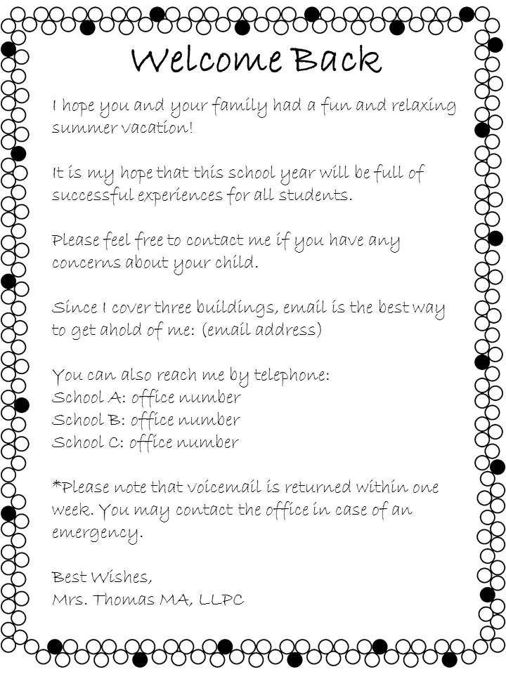Preschool Welcome Letter Template 1000 Ideas About Preschool Wel E Letter On Pinterest