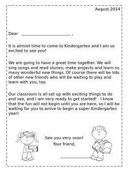 Preschool Welcome Letter Template Back to School Kindergarten Wel E Packet Editable