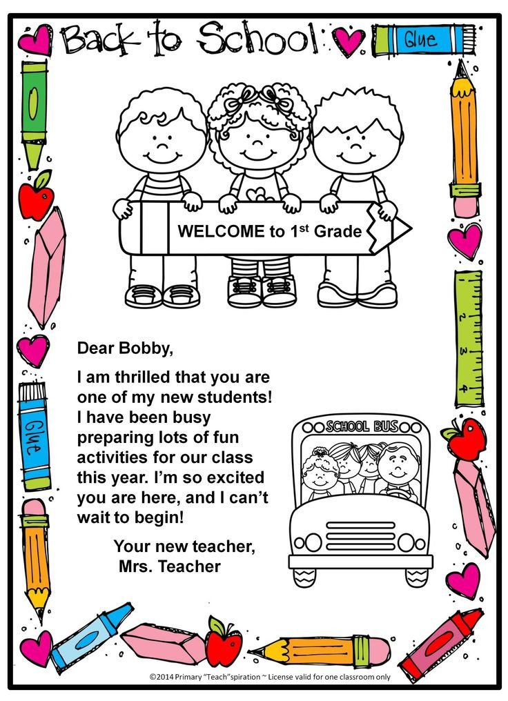 Preschool Welcome Letter Template Back to School Wel E Letter and Postcard Editable