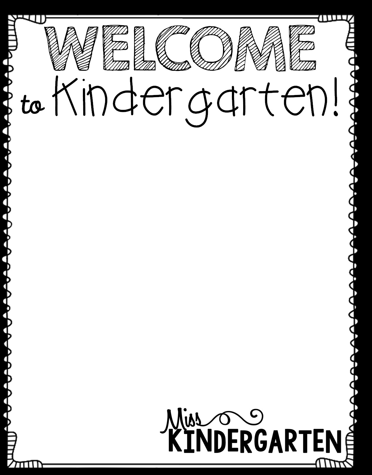 Preschool Welcome Letter Template Getting organized New Student Bags Miss Kindergarten