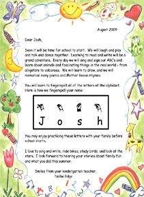 Preschool Welcome Letter Template Open House Scavenger Hunt Freebie for Preschool