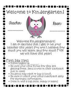 Preschool Welcome Letter Template Sample Wel E to Kindergarten Letters