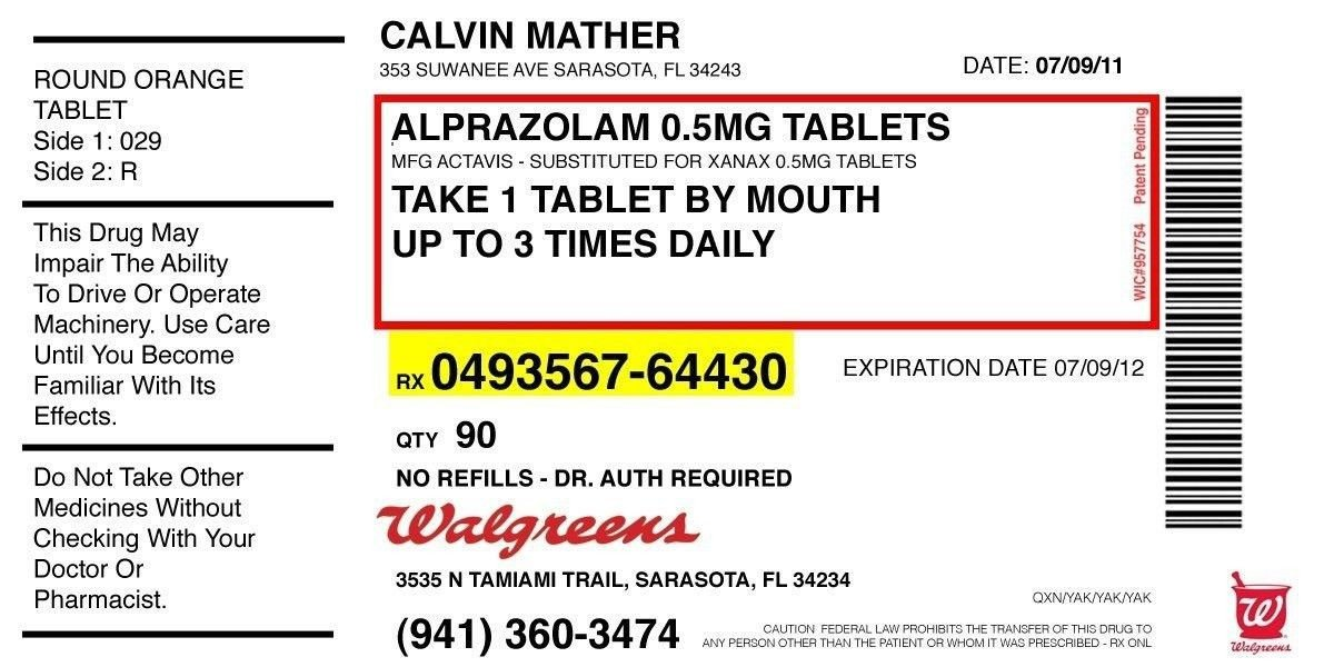 Prescription Bottle Label Generator Pill Bottle Label Template Prescription Label Template