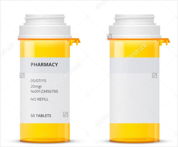 Prescription Bottle Label Template 6 Pill Bottle Label Templates Word Apple Pages Google
