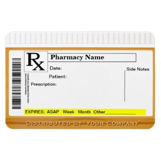 Prescription Bottle Label Template Rx Label Template
