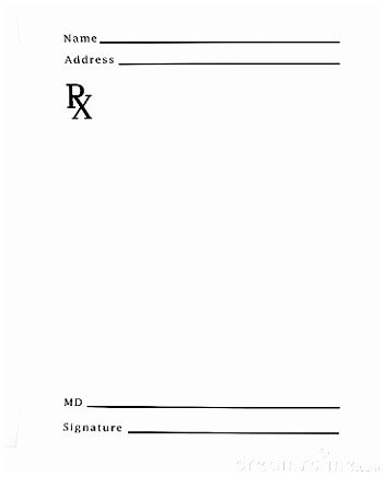 Prescription Pad Template Microsoft Word 10 Prescription Template Word Free Eiuii