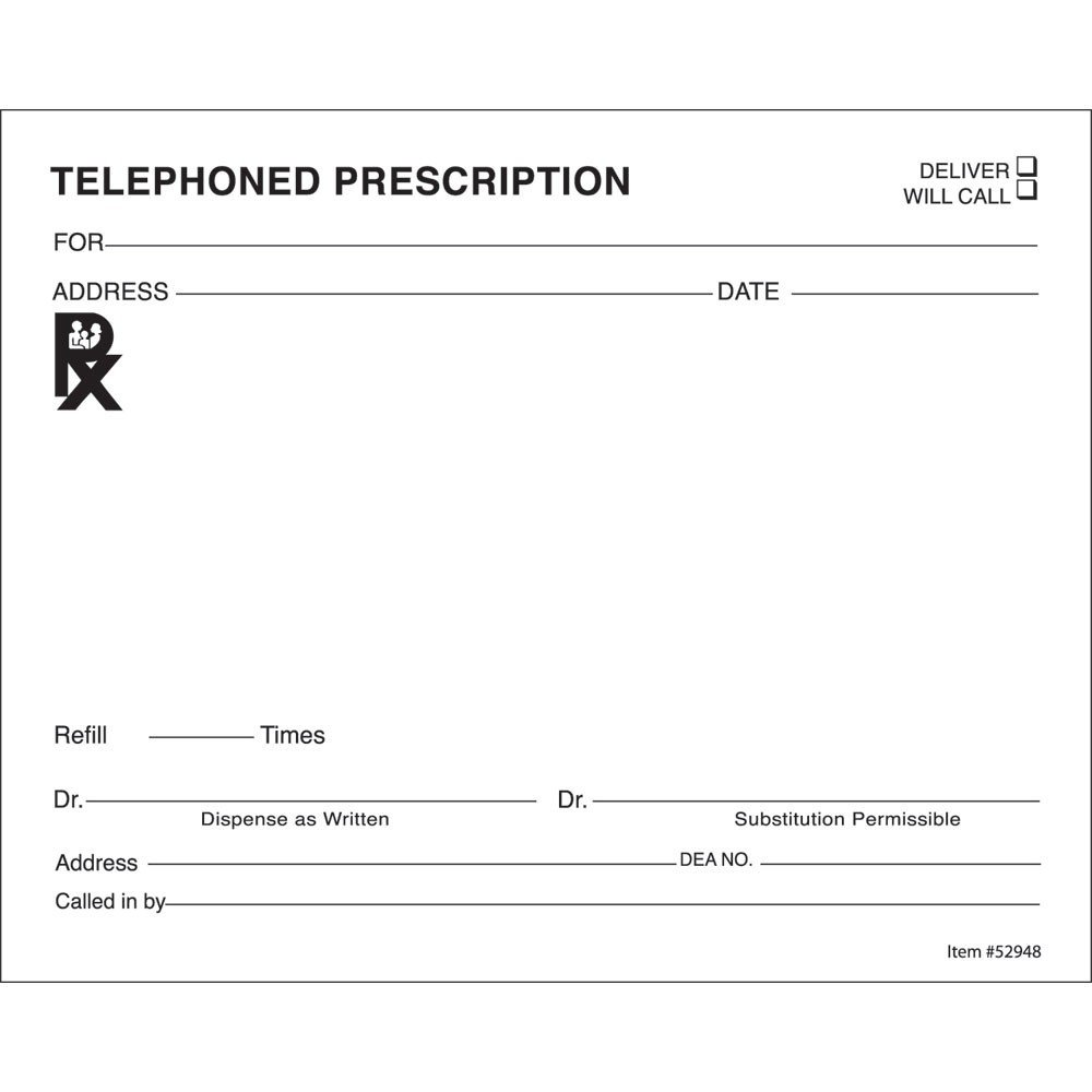 Prescription Pad Template Microsoft Word 14 Prescription Templates Doctor Pharmacy Medical