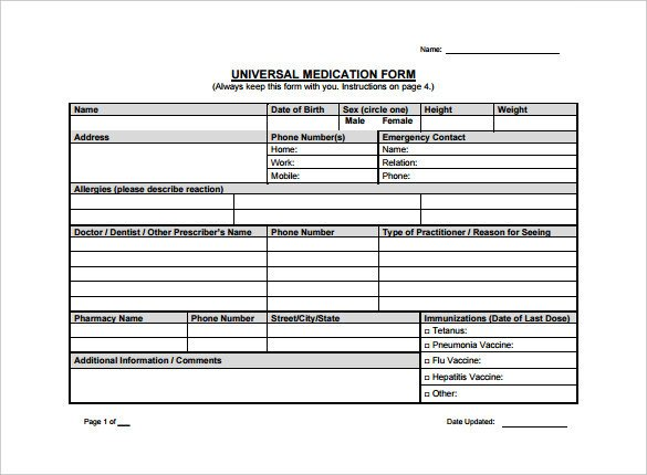 Prescription Template Microsoft Word 10 Doctor Prescription Templates Pdf Doc