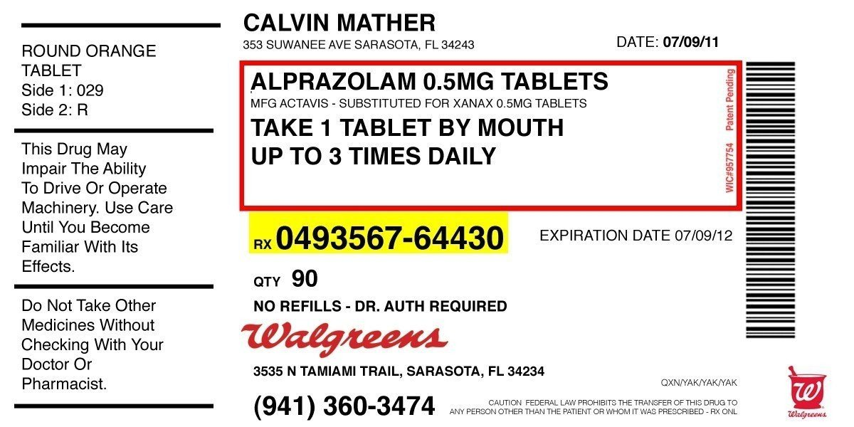 Prescription Template Microsoft Word Prescription Label Template Microsoft Word