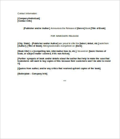 Press Release Template Word Press Release Template Word 5 Free Word Documents