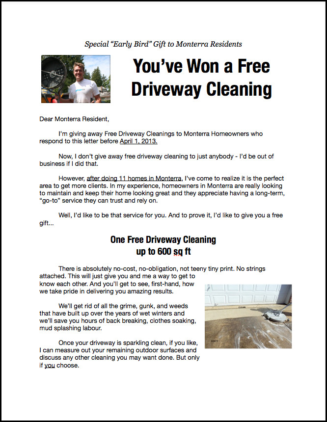 Pressure Washing Proposal Template Powerwashing Marketing Flyers
