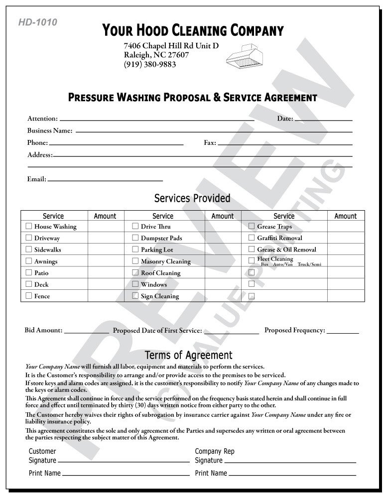 Pressure Washing Proposal Template Pressure Washing Proposal Template
