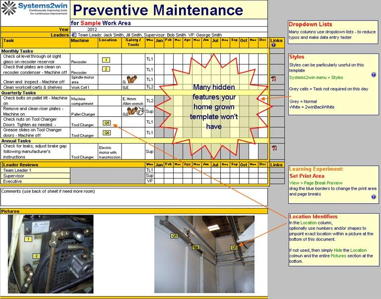 Preventive Maintenance Schedule Template Excel Preventive Maintenance Schedule Template Excel