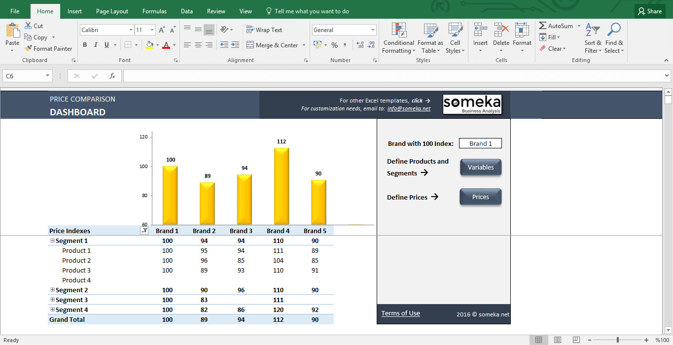 Price Comparison Excel Template Price Parison and Analysis Excel Template for Small