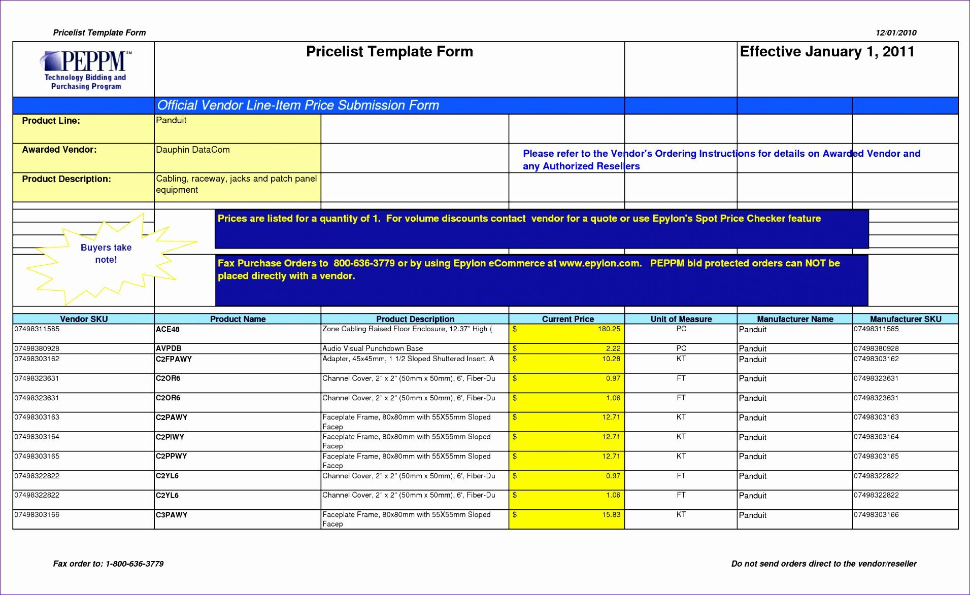 Price List Template Excel 9 Excel List Templates Exceltemplates Exceltemplates