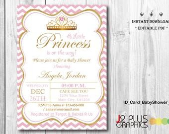 Princess Baby Shower Invitations Templates Princess Baby Shower