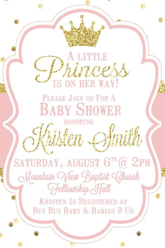 Princess Baby Shower Invitations Templates top 10 Baby Shower Invitations original for Boys and Girls