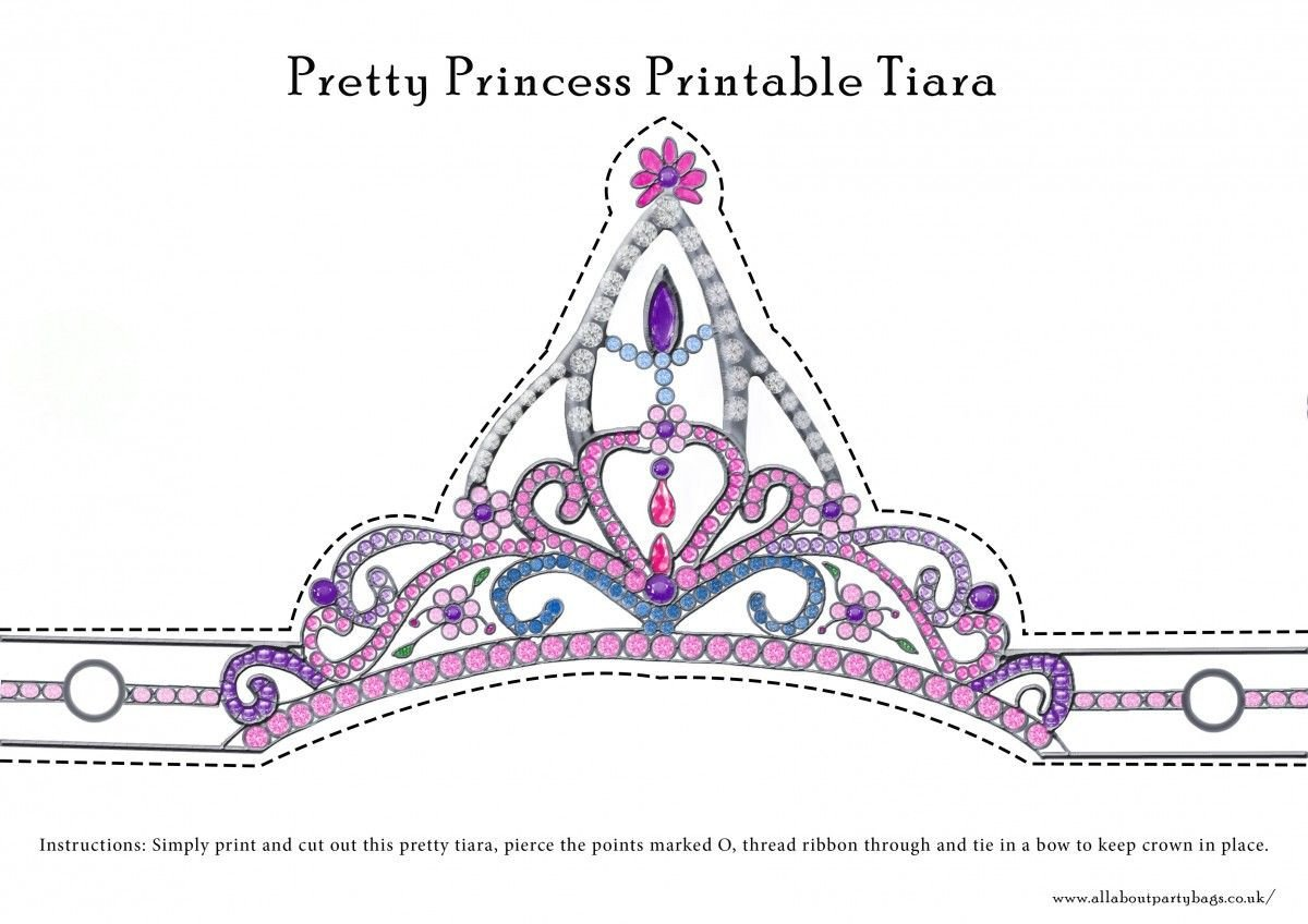 Princess Crown Cut Out Free Downloadable Pretty Princess Tiara to Cut Out and