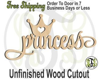 Princess Crown Cut Out Princess Crown Cutout