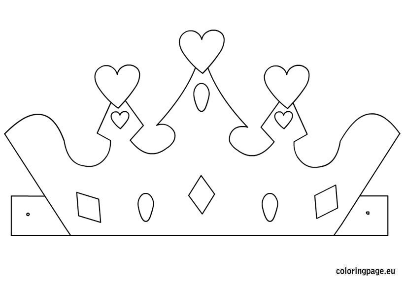 Princess Crown Cut Out Princess Crown Template – Coloring Page