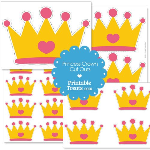 Princess Crown Cut Out Printable Cut Out Princess Crown — Printable Treats
