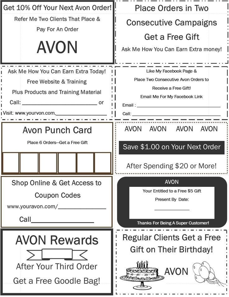 Printable Avon order forms 29 Best Free Avon Printables Images On Pinterest
