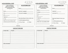 Printable Avon order forms Backorder Tracking Sheet 2 164×1 690 Pixels