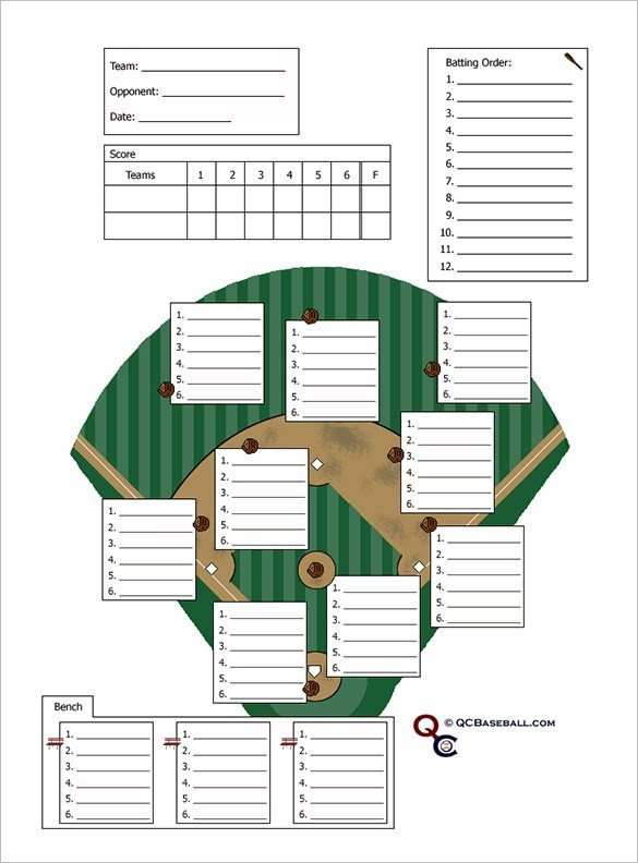 Printable Baseball Lineup Cards Baseball Lineup Card Template Free Download Printable