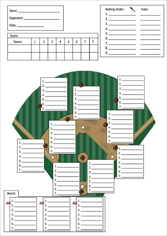 Printable Baseball Lineup Cards Baseball Lineup Template