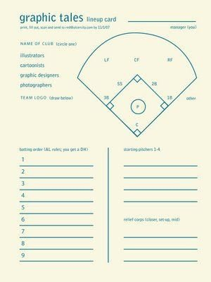 Printable Baseball Lineup Cards softball Lineup Printable