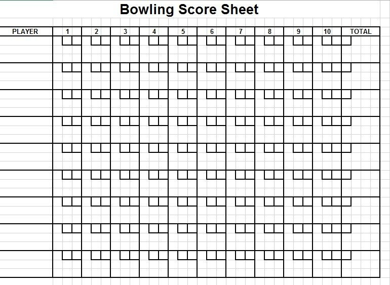 Printable Bowling Score Sheet 11 Free Sample Cricket Score Sheet Templates Printable