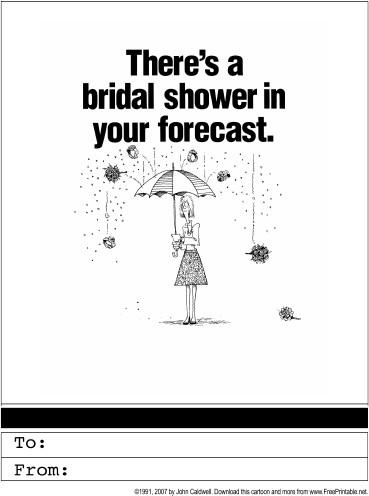 Printable Bridal Shower Card Bridal Shower Invitation Printable Greeting Card